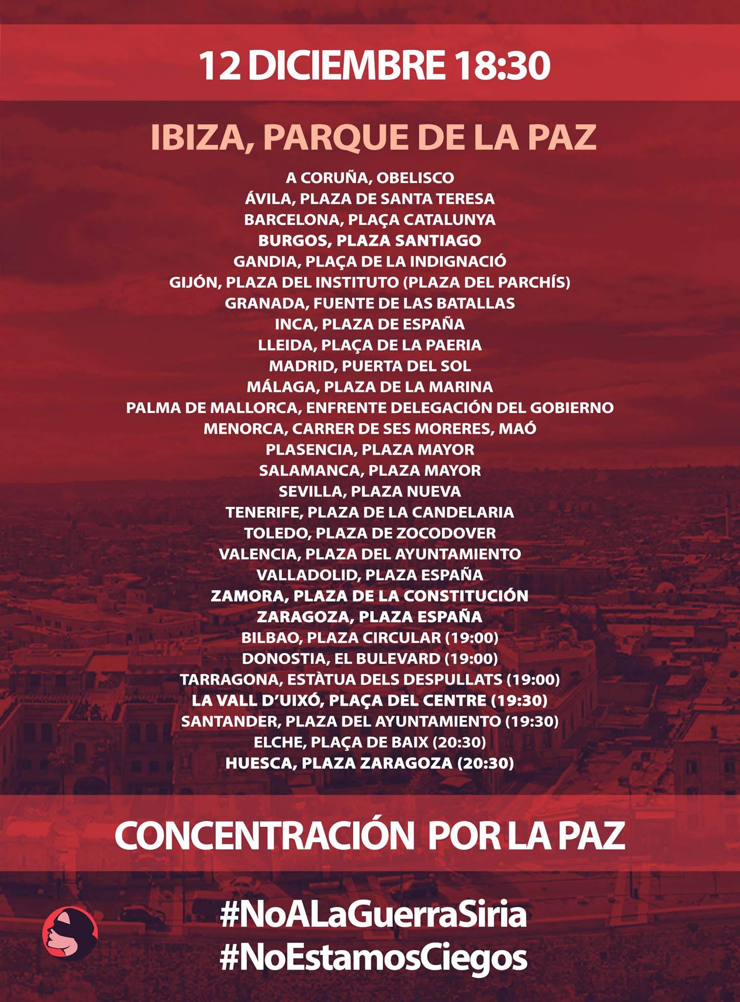 ADHESIONES 12-D IBIZA (Comunicado)