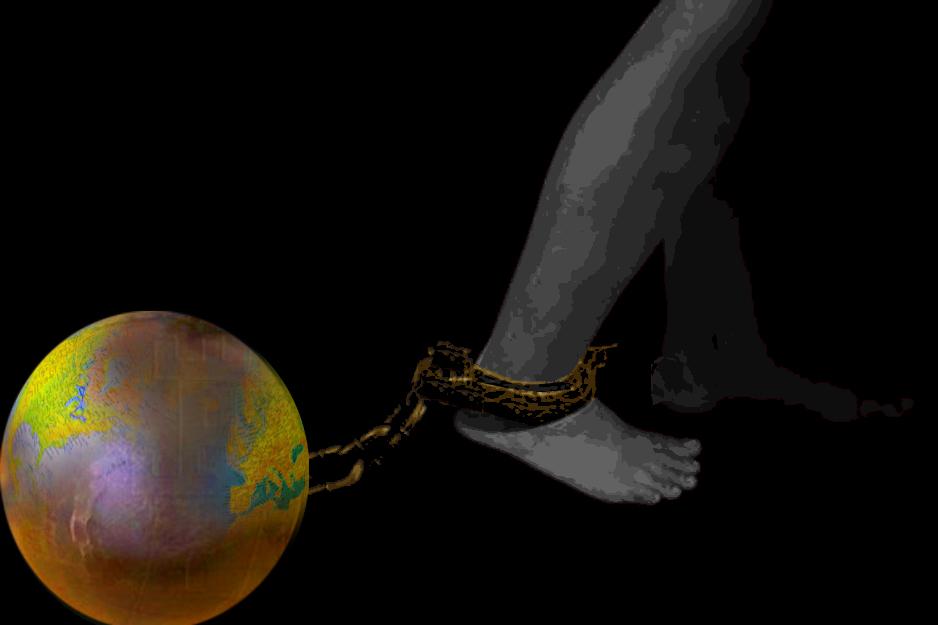 """""""Esclavitud postmoderna"""". Ilustración de Blanca Alonso Vidal."""